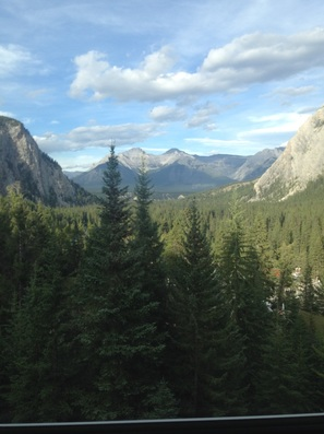 View from room at the Fairmont Banff Springs Hotel
