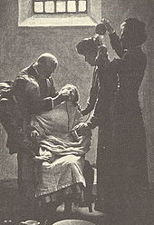 A suffragette being force-fed