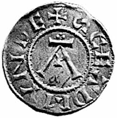 Anglo saxon silver penny