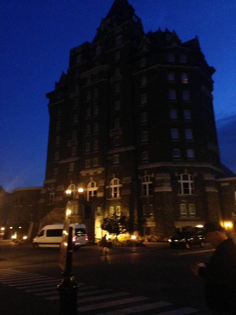 Banff Springs Hotel at night